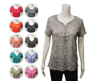 Wholesale Womens Tops & T-Shirts - Wholesale Womens Ex Chainstore T-Shirt Top Button Up Assorted - Womens Wholesale Clothing - iFashionWholesale.com - Specialist in Ex Chainstore Wholesale Clothing.